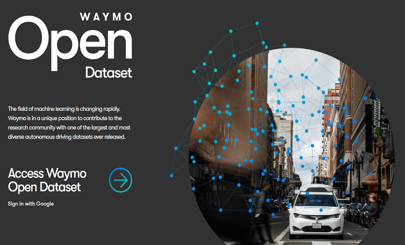 Waymo releases self-driving Open Dataset