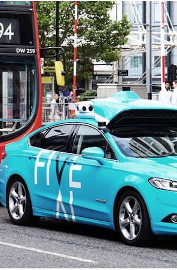 First driverless cars trials in London