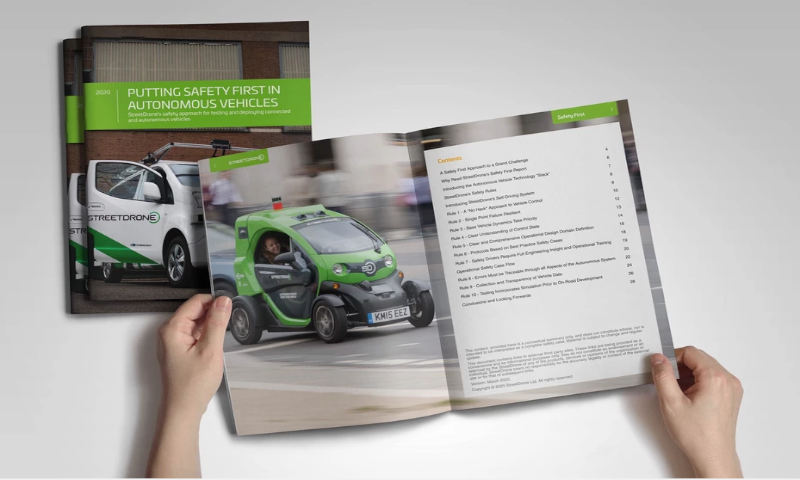 StreetDrone published its autonomous vehicle safety report.