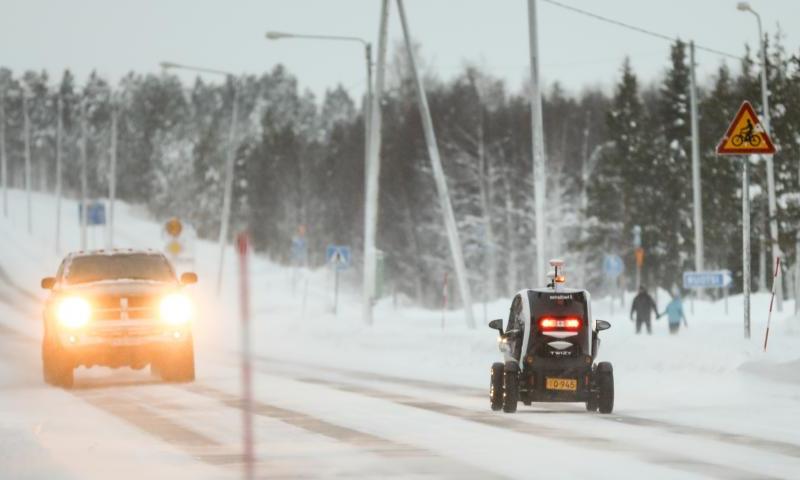 Autonomous vehicle pilot as part of regular traffic