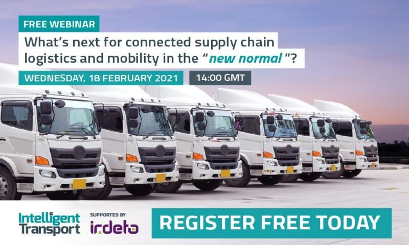 "Intelligent Transport's webinar – ""What's next for connected supply chain logistics?"""